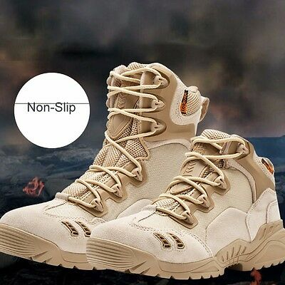 Army Shoes Mens Tactical Comfort Desert Leather Military Boots Combat US MAG