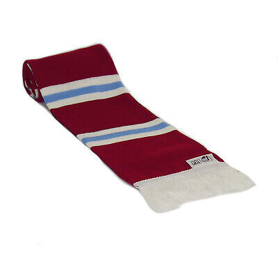 Official West Ham United Football Club Crest Colours Claret And Blue Bar Scarf