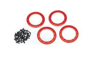 New-Traxxas-TRX-4-Beadlock-Rings-Red-2-2-039-Aluminum-4-2x10-CS-48-8168R