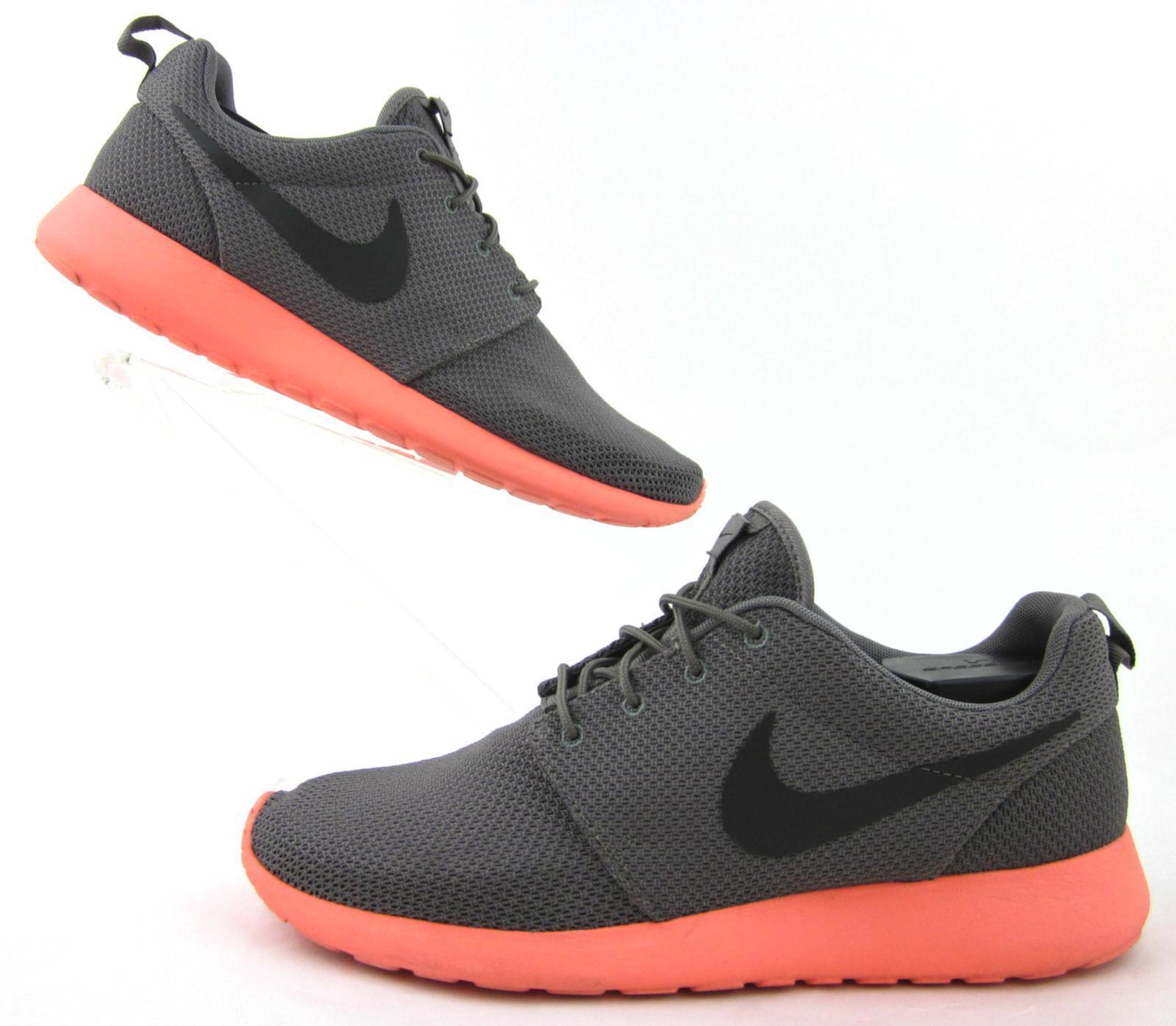 Nike Roshe Run Mango Soft Grey   Total Crimson US 11 [511881-096]