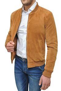 Cappotto-giacca-uomo-invernale-beige-cammello-scamosciato-giubbotto-slim-fit