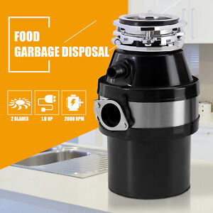 1.0 HP Garbage Disposal Continuous Feed Kitchen Food Waste Plug 2600 RPM in Red