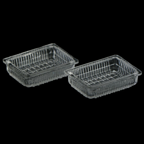 2Pcs1:12Dollhouse miniature accessories resin tray simulation food plate  DFC