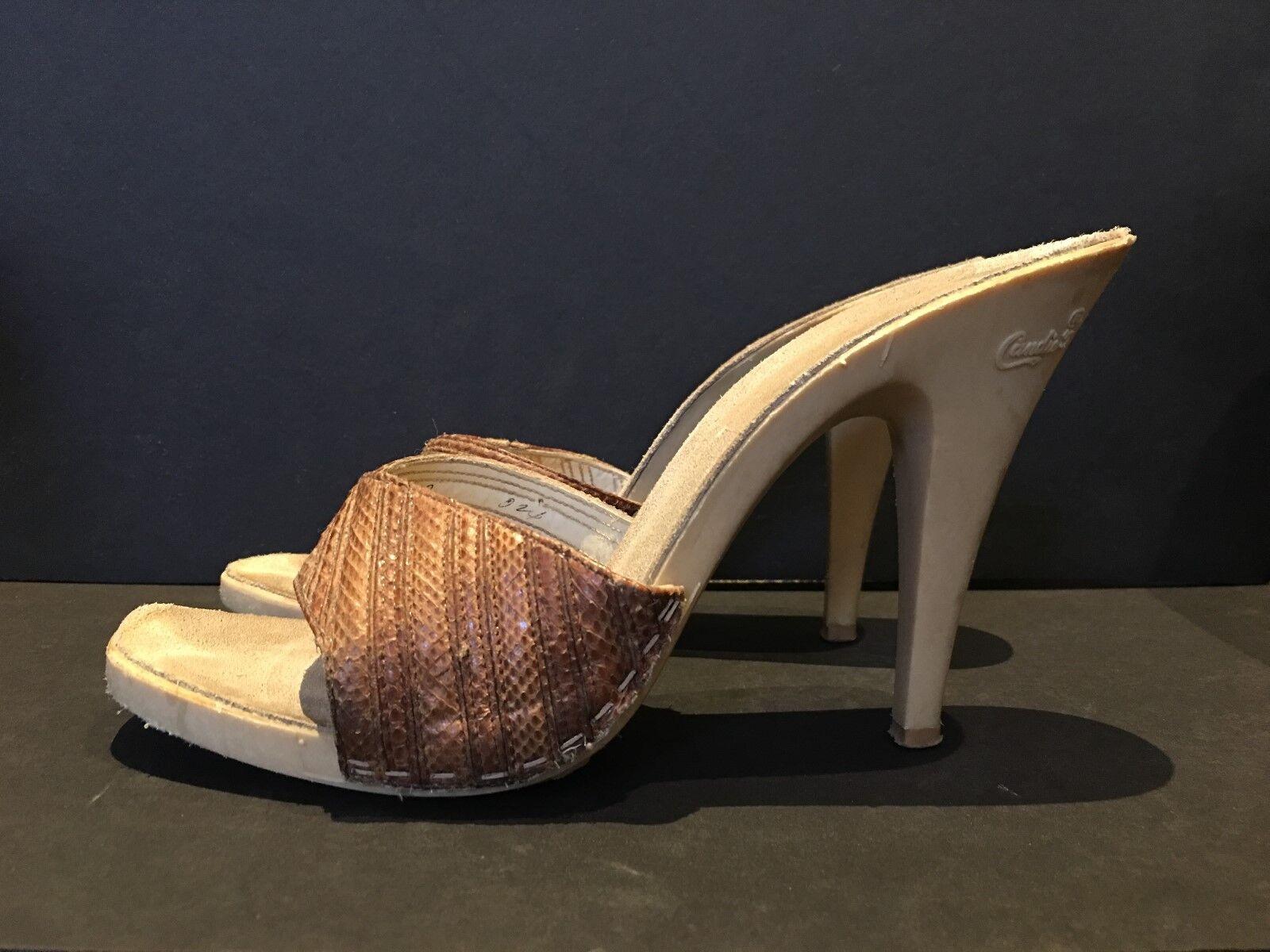 prezzo all'ingrosso e qualità affidabile Candies Candies Candies Vintage Heels - Marrone - Dimensione 9  prezzo all'ingrosso