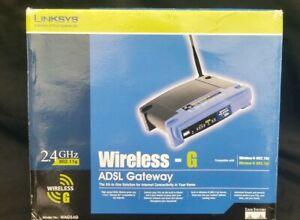 Avoir Un Esprit De Recherche Cisco Linksys Routeur Sans Fil G Adsl Gateway Model: Wag54g Ver 1.2 Avec Adaptateur-afficher Le Titre D'origine