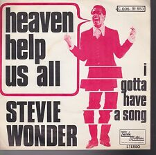 Stevie Wonder Heaven Help Us All / I Gotta Have A Song Belgium Import 45 W/ PS