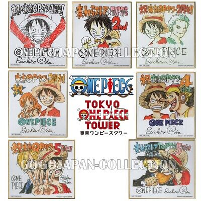 mini colored paper ONE PIECE Eiichiro Oda Autograph Shikishi 1500 ltd