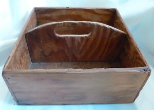 ANTIQUE-Country-PRIMITIVE-Handled-Small-TOOL-BOX-Make-Do-Repairs