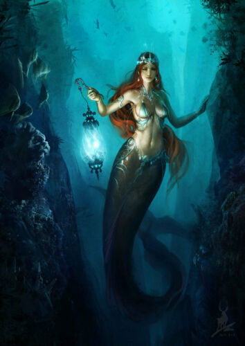 Home Decor HD Prints oil painting art on canvas for living room Mermaid mry84