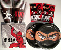 Ninja Warrior - Birthday Party Supplies Set Pack For 16 W/ Stickers