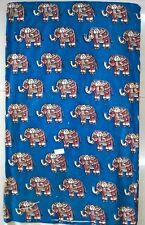 Cotton kalamkari block print fabric - 100 cms length by 43 inches Blue base ele