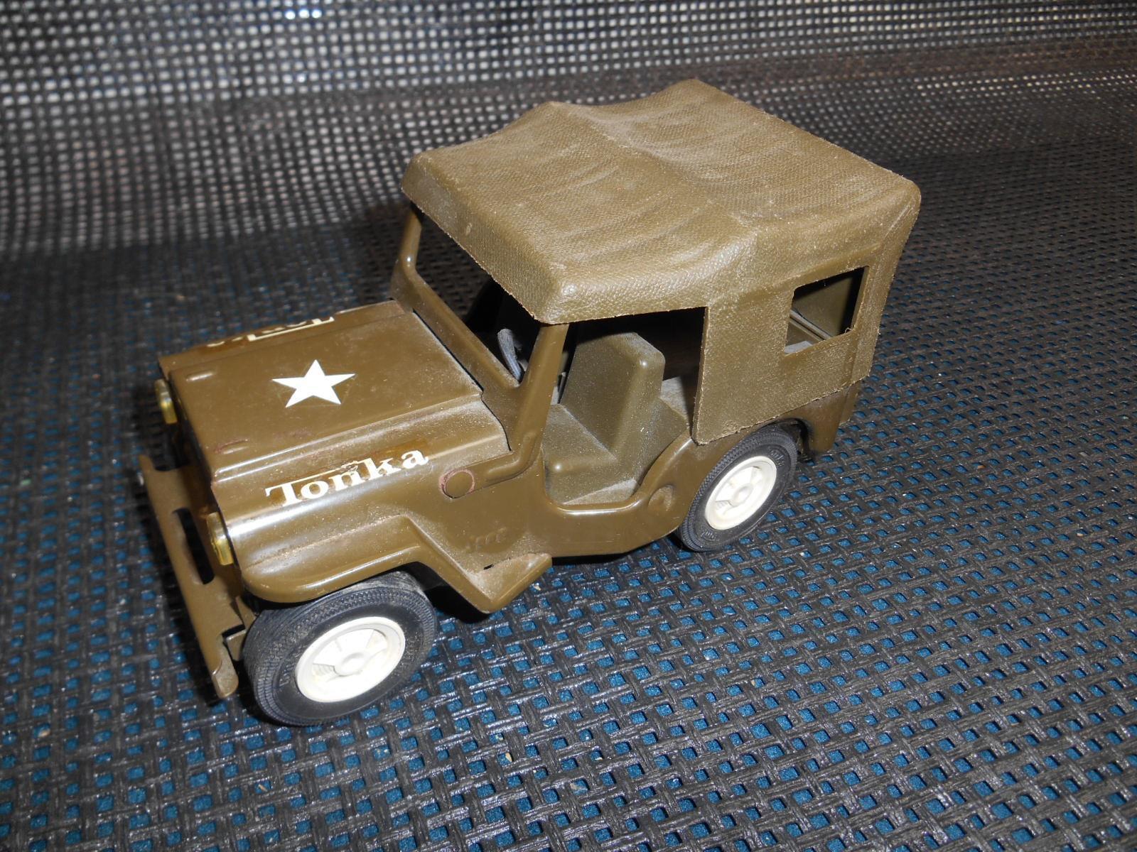 Nuova lista Old Vtg TONKA JEEP Comuomoder Army giocattolo Vehicle 6 6 6 1 2  lungo Military  le migliori marche vendono a buon mercato