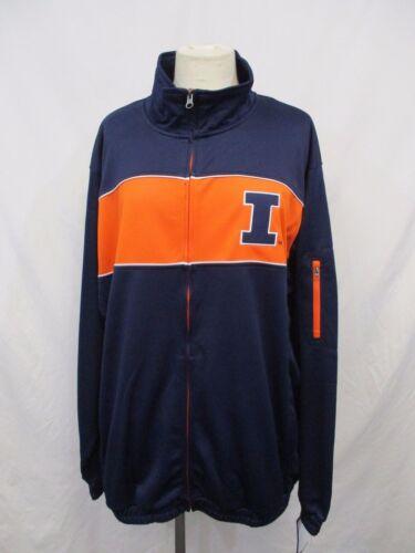 Illinois Fighting Illini Men M L XL GAMEDAY Full Zip Track Jacket  NCAA