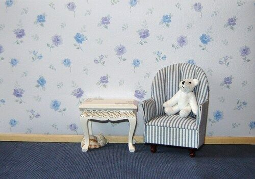 Little Blue Rose Casa delle Bambole Carta Da Parati