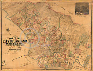 1887 large wall map oakland alameda california historical vintage 1887 large wall map oakland amp alameda california publicscrutiny Image collections