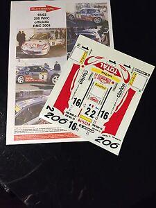 DECALS-1-18-PEUGEOT-206-WRC-DIDIER-AURIOL-RALLYE-MONTE-CARLO-2001-RALLY-TAMIYA