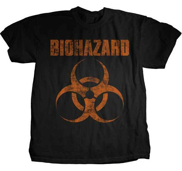 BIOHAZARD - Distressed Logo:T-shirt - NEW - SMALL ONLY
