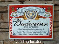 Budweiser Bud King of Beers Beer Bottle Metal Tin Sign Bar Man Cave Home Decor