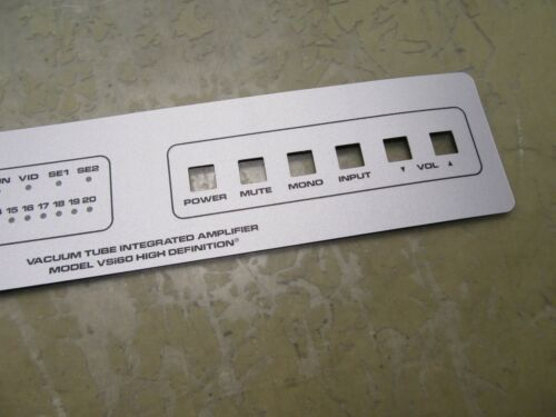 4*T-25 face plate sticker for audio research vsi60 tube amplifier faceplate