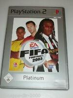 EA SPORTS FIFA 2003 PLATINUM KOMPLETT MIT ANLEITUNG PLAYSTATION 2 PS2 FUSSBALL