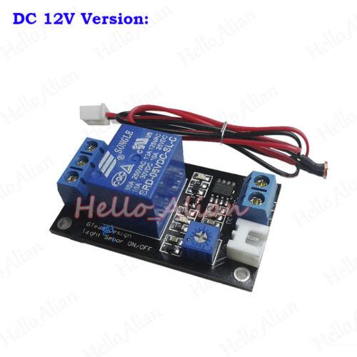 DC 5V 12V 24V Photoresistor Light Sensor Controller Relay Switch On//Off Module
