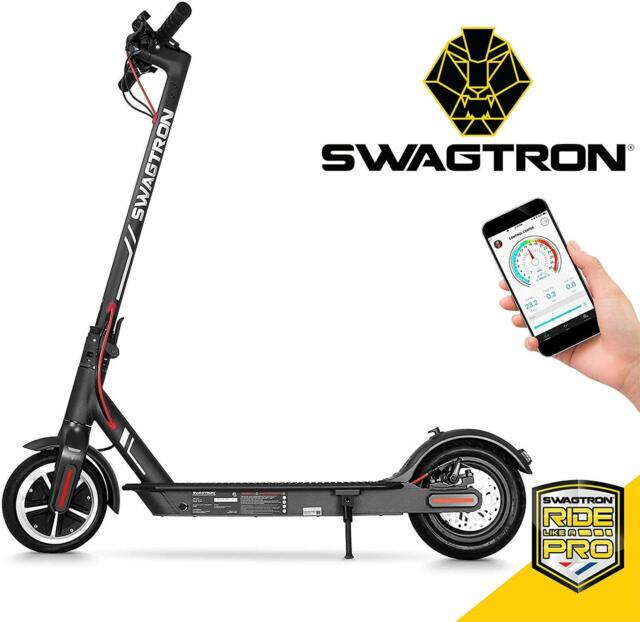 SWAGTRON Swagger High Speed Adult Electric Scooter; Ultra-Lightweight Carbon Fib