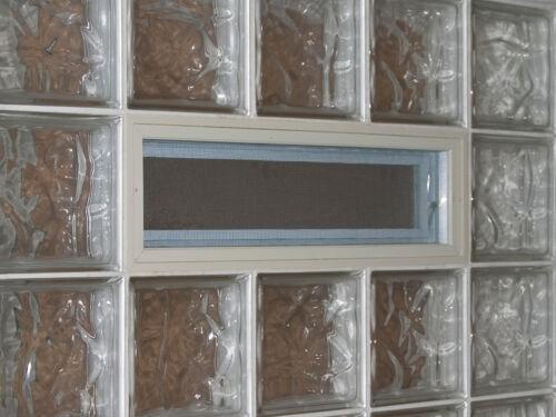 Fenêtre basculante au lieu de trois brique de verre horizontal 19x19x8 cm