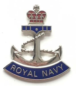 Royal Navy Crown and Anchor - MOD Military Approved Royal Navy Enamel Badge