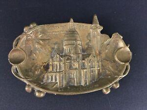 Old-ashtray-vide-poche-bronze-souvenir-of-paris-sacre-coeur-de-montmartre