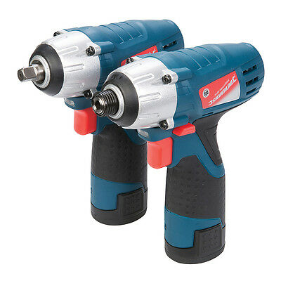 Silverline Silverstorm 10.8V Impact Wrench & Impact Driver Twin Pack 10.8V 26226