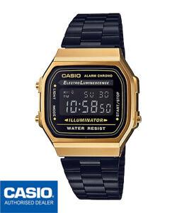 CASIO-A168WEGB-1BEF-A168WEGB-1B-ORIGINAL-VERSAND-EINSCHREIBE-VINTAGE-BLACK-amp-GOLD