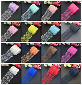 New 10yds 45mm Vintage Handicrafts Embroidered Net Lace Trim Ribbon