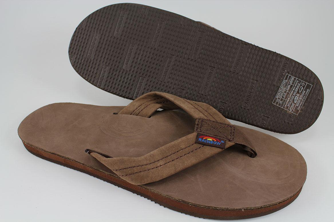 Rainbow Sandals Premier Cuero Correa ancha de de de una sola capa Expresso Marrón Mujer Talla  ventas directas de fábrica