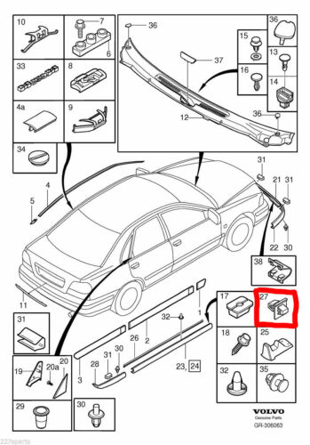 10x Sill Side Skirt Bumper Attachment Trim Clips White Plastic For Volvo S40 V40