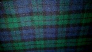 Image Is Loading Pendleton Black Watch Plaid Wool Fabric 80