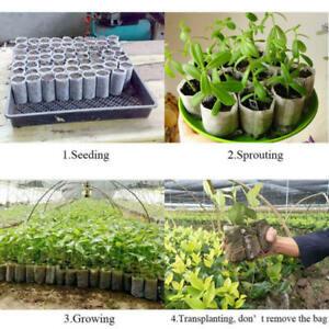 200tlg-Pflanzbeutel-Pflanzsack-Blumentopf-Anzuchttoepfe-Zuchten-Umweltfreundlich