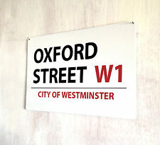 Oxford Street London street sign A4 metal plaque decor picture