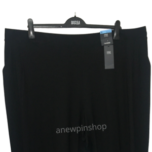 M-amp-s-Femmes-Pantalon-Noir-Jersey-Tapered-Leg-Stretch-Pantalon-De-Survetement-BNWT-Marks-courbe