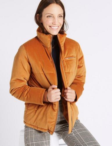 ~ Warm Velvet Padded 18 16 Burnt rrp Orange s Jacket £ Størrelser 14 M 75 Finish wqY5HExqC