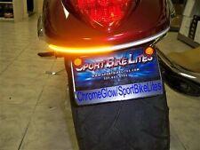 Suzuki Boulevard M109R Amber LED Rear Turn Signal Fender Eliminator Kit - Clear