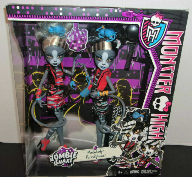 Monster High Zombie Shake Meowlody And Purrsephone Doll 2 Pack For Sale Online Ebay