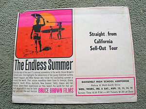 Vintage-endless-summer-surf-movie-poster-surfboard-1965-rare-hawaii-showing