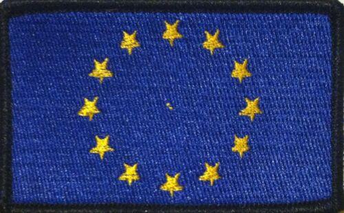Flag Iron-On Tactical Patch Black Border #49 European Union EU