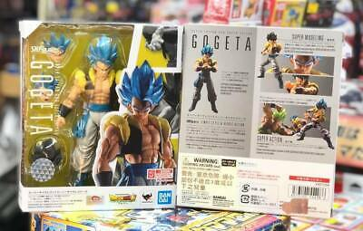 In Stock BANDAI S.H Figuarts Dragonball Z SUPER SAIYAN GOD SS SSGSS GOGETA Blue