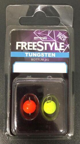 SPRO Freestyle Tungsten Bottom gigue Orange Chartreuse 3 G 5 G 7 G 10 G Contenu 2 St.