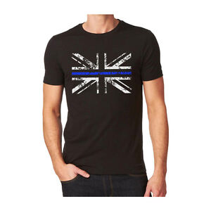 9ab6ca1f4 Thin Blue Line - Police - Union Jack T - Shirt ( New All Sizes ...