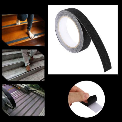 "1/""×16.4/' BLACK Roll Safety Non Skid Tape Anti Slip Tape Sticker Grip Safe Grit"