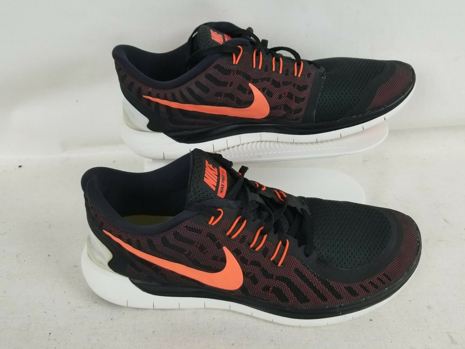 Nike Free 5.0 Men's Black orange Walking  Running shoes Size 11