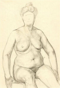 Peter Collins ARCA - Contemporary Pen and Ink Drawing, Nude Study II