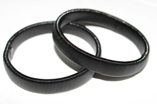 PAIR CLASSIC BLACK VINTAGE STYLE SHIRT SLEEVE HOLDERS ARMBAND STRETCH METAL